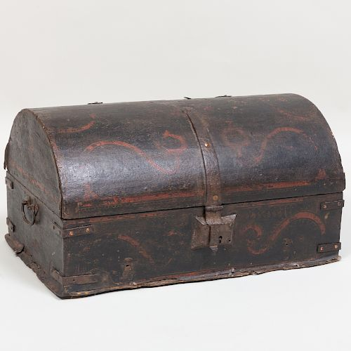 Continental Painted Dome Top Document Box