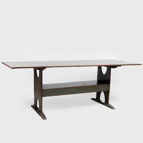 Modern Green Painted Farm Table