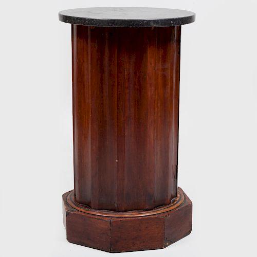 Neoclassical Fluted Columnar Mahogany Pot Cabinet
