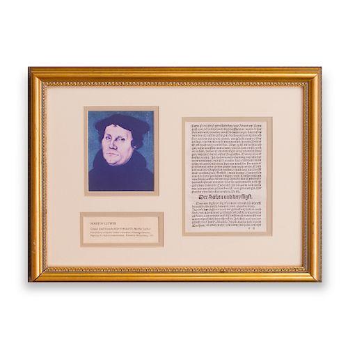 European School: Grund Und Ursach Aller Artikel D. Martin Luther, Two Pages