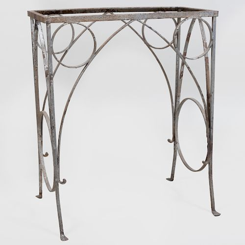 Wrought Iron Gothic Form Table Base