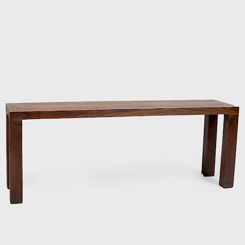 Arts and Crafts Style Oak Bench