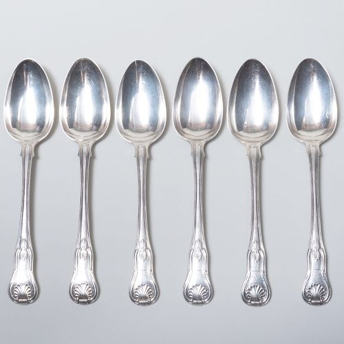 Set of Six George IV Table Spoons