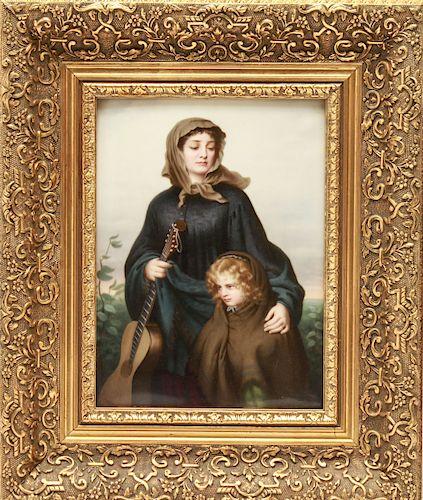 KPM Mother & Child Porcelain Plaque