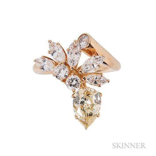 Fancy-colored Diamond and Diamond Ring, Boucheron