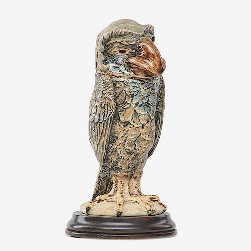 MARTIN BROTHERS Barrister bird tobacco jar