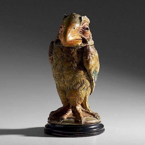 MARTIN BROTHERS Bird tobacco jar