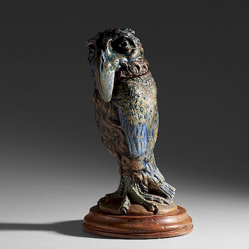 MARTIN BROTHERS Tall bird tobacco jar