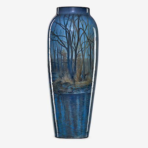 C. SCHMIDT; ROOKWOOD Exceptional Iris Glaze vase