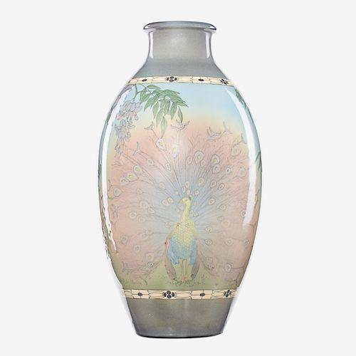 SARA SAX; ROOKWOOD Massive Jewel Porcelain vase