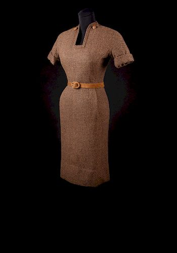 Christian Dior Haute Couture Day Dress and Belt, Autumn/Winter 1954