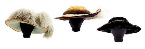 Three Edwardian hats, 1910s
