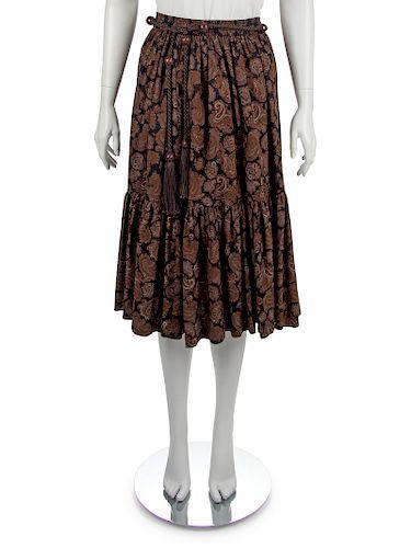 Yves Saint Laurent Skirt and Belt, 1970s