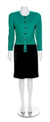 Oscar de la Renta Dress, 1980s No size label