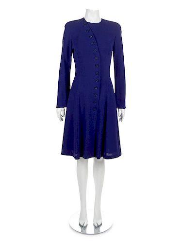 Ungaro Blue Dress, 1980s-1990s