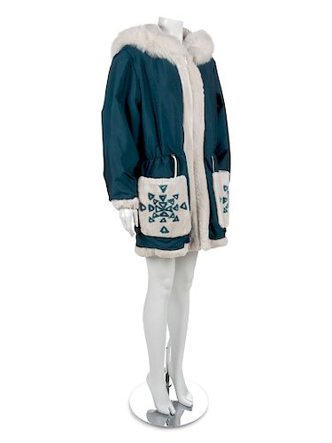 Shearling Lined Coat, 1990-2000s