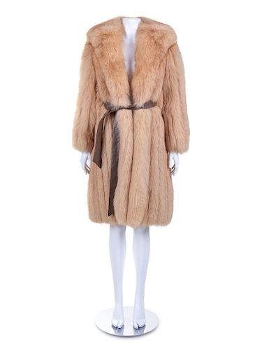 Szor-Dienes Fox Coat and Belt, 1970s