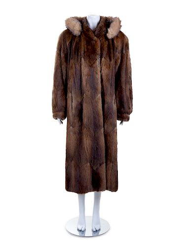 Elan Furs Mink Coat, 1980-90s