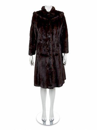 Long Brown Mink Coat, 1970-80s