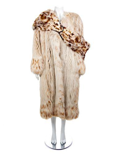 Krizia Fox Coat and Stole/Purse, 1990s