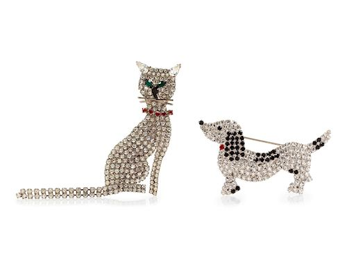 Butler and Wilson Pet Pins, 1960-70s