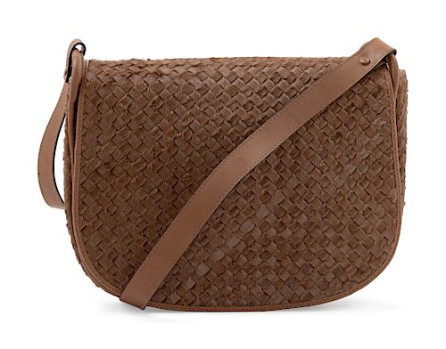 Bottega Veneta Intrecciato Fur Handbag,