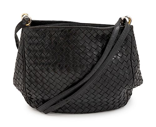 A Bottega Veneta Black Intrecciato Bag
