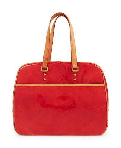 Louis Vuitton Red Logo Handbag