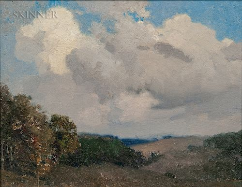 William Jurian Kaula (American, 1871-1953)  Sky and Hills