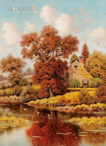 George W. Drew (American, 1875-1968)  Autumn Pond