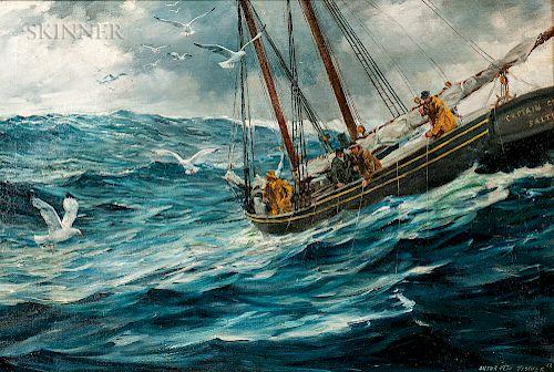 Anton Otto Fischer (American, 1882-1962)  Hauling in the Catch