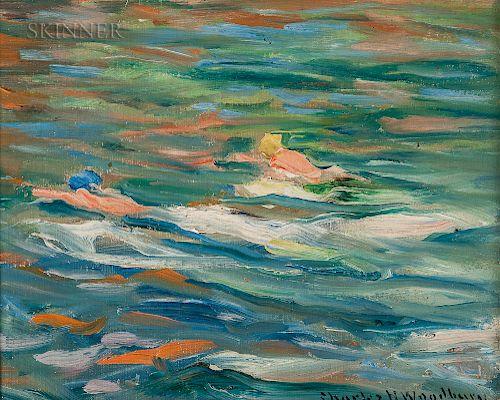 Charles Herbert Woodbury (American, 1864-1940)  Swimming