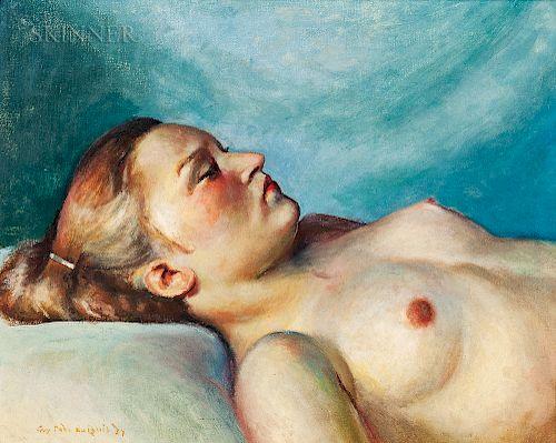 Guy Pène du Bois (American, 1884-1958)  Nude Woman
