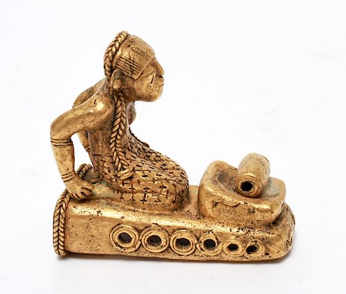 Pre-Columbian Gold Sinu Tumbaga Figural Finial