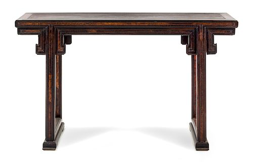 A ChineseJichimu Altar Table Height 34 1/4 x length 57 1/2 x width 16 1/2 in., 87 x 146 x 42 cm.