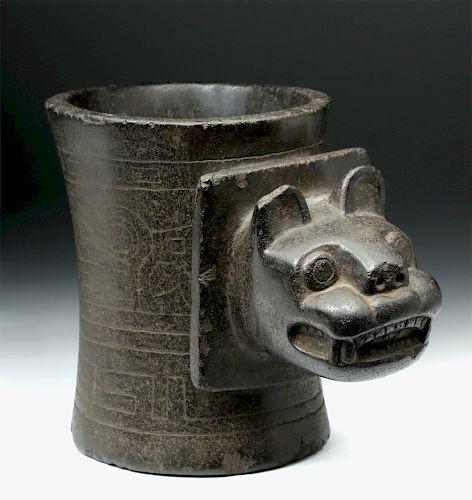 Important Tihuanaco Stone Kero w/ Stoetzer Report