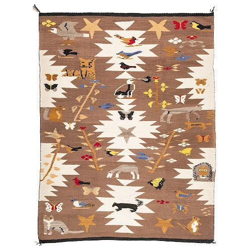 Southwestern Pictorial Weaving / Rug, From The Harriet and Seymour Koenig Collection, New York