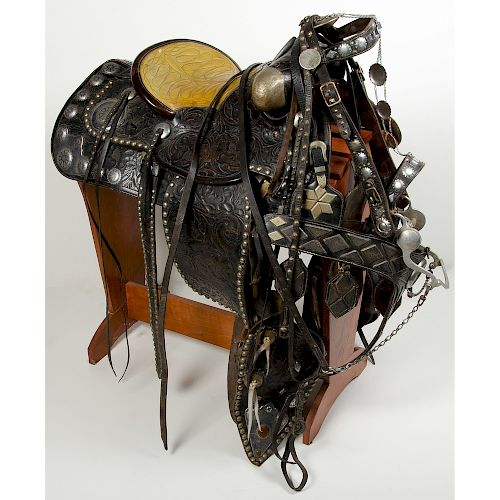 L.V. Frazer Parade Saddle, Bridle, and Breastplate, From the Art Gerber Collection, Indiana