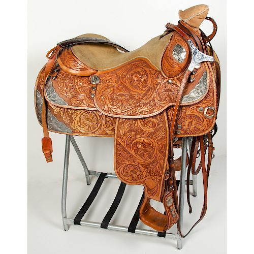 Tex Tan AQHA 50th Anniversary Western Show Saddle, Bridle, and Breastplate