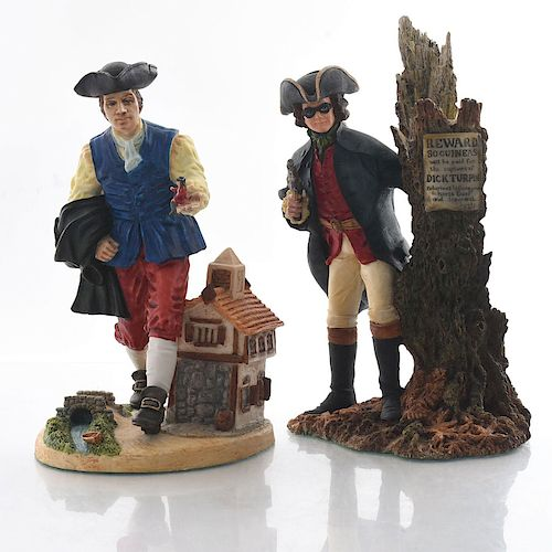 2 ROYAL DOULTON FIGURINES, CHARACTER SCULPTURES SERIES