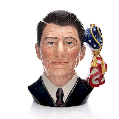 ROYAL DOULTON LARGE CHARACTER JUG, RONALD REAGAN D6718