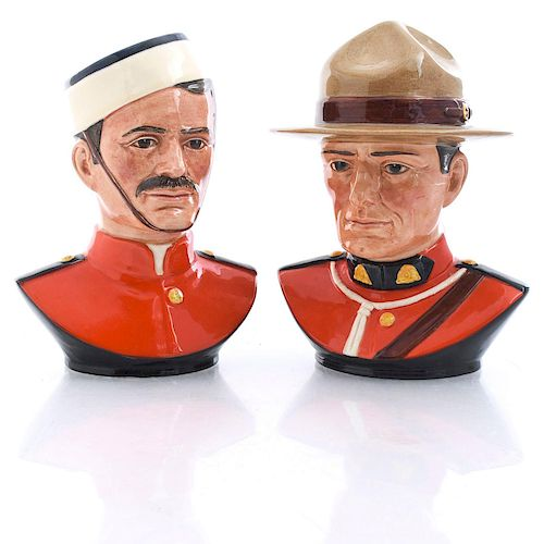 2 ROYAL DOULTON RCMP MOUNTIE JUGS
