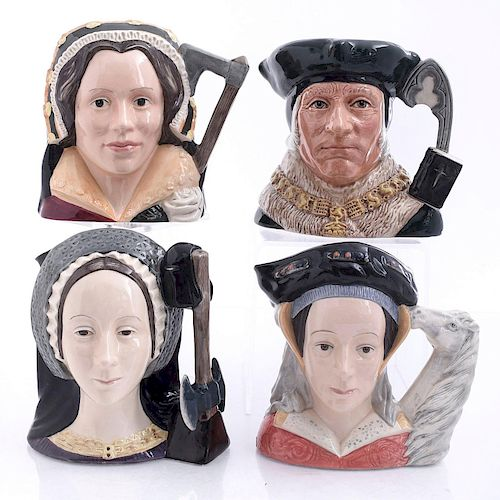 4 LG DOULTON 3 WIVES OF HENRY AND SIR THOMAS JUGS