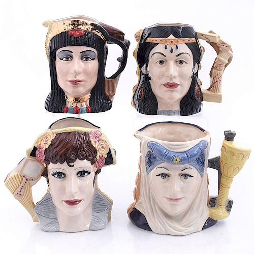 4 LG ROYAL DOULTON STAR CROSSED LOVERS CHARACTER JUGS