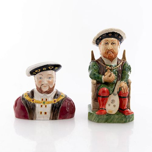 KEVIN FRANCIS CERAMICS HENRY VIII CHARACTER JUGS