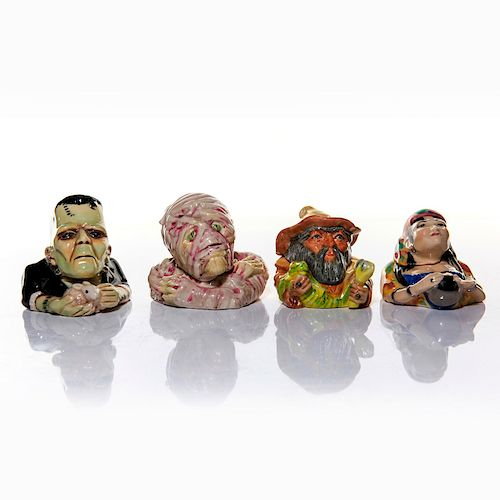 4 KEVIN FRANCIS FACE POTS, MONSTERS