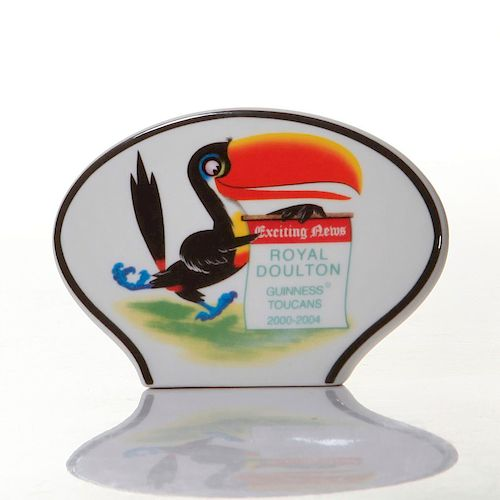 ROYAL DOULTON GUINNESS TOUCAN NEWS VENDOR NAMESTAND