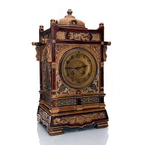 DOULTON LAMBETH SILICON WARE BRACKET CLOCK