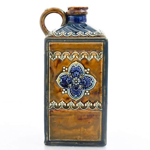 DOULTON LAMBETH ART NOUVEAU GLAZED CERAMIC LIQUOR JUG
