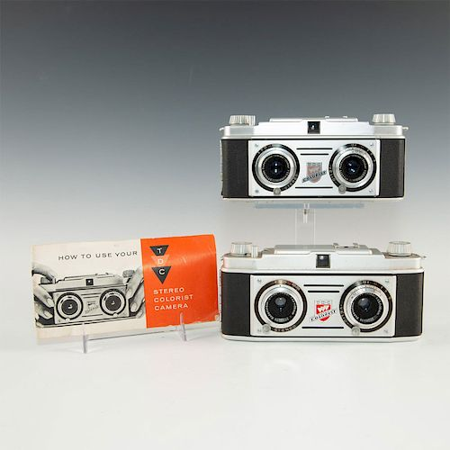 GROUP OF 2 VINTAGE BELL & HOWELL TDC STEREO CAMERAS